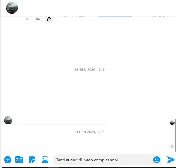 Compleanno chat Messenger