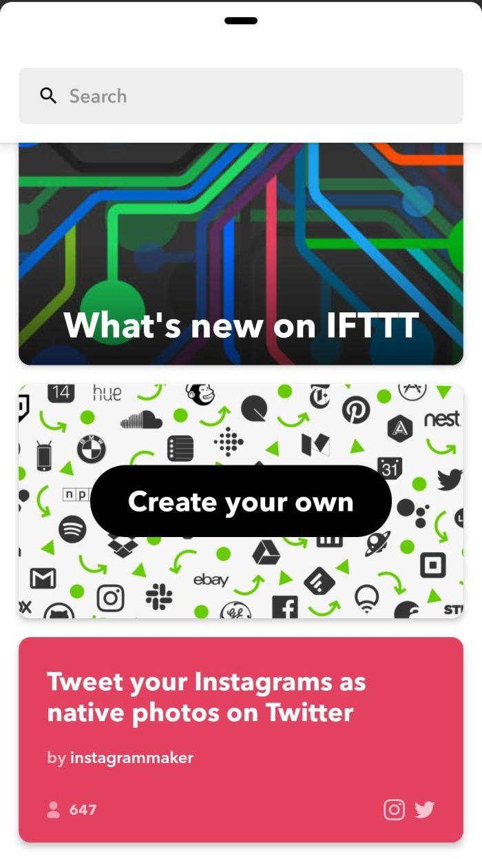 Creare applet IFTTTT