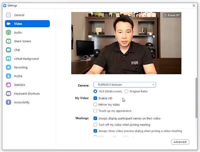 Come funziona l'utility Fujifilm X Webcam