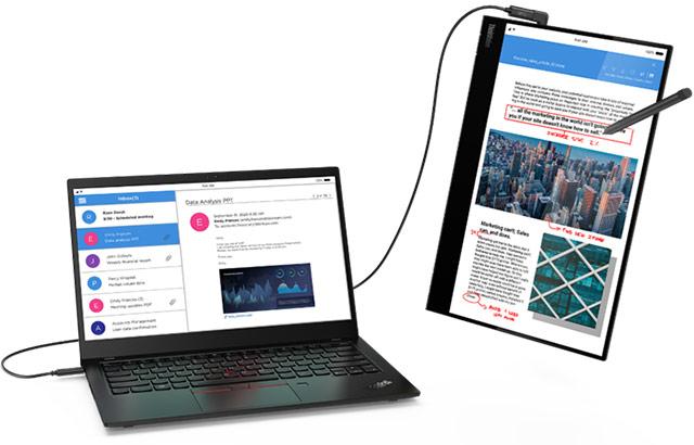 Il monitor portatile Lenovo ThinkVision M14t da 14 pollici